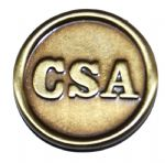 Confederate CSA Button Pewter Badge